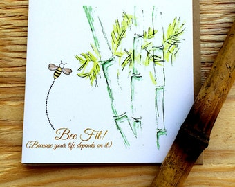 "Bee Fit | Friendship | Encouragement | Just Because Card | ""Bee Attitudes"" by Love Bee"