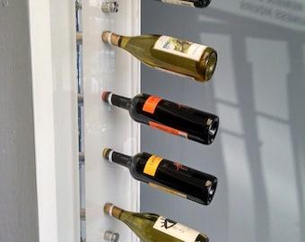 Acrylic Wine Rack, Acrylic furniture, Wall Mounted Wine Rack, Wine Storage, Wine holder, Hanging Wine Rack, Lucite Furniture, Bottle Rack