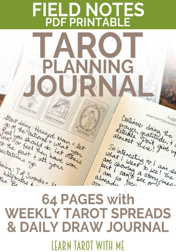 Tarot Notes A Journey Through My Tarot Decks The Magician: APRIL 2017 Field Notes PDF Printable Tarot Journal & Daily