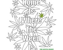 adult coloring pages weed - unique artful words related items etsy
