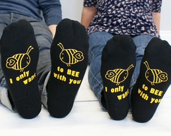 Bee Socks - I Only Want to Be With You Women's Socks