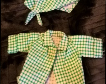 Vintage 1950's green final shirt and kercheif for Ginny, Gigi, Ginger, Muffy