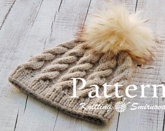 Knitting Hat PATTERN, Knitting PATTERN, Knitting Pattern for women, Knit Hat Pattern, Knitting hat pattern for woman, digital pattern - PDF