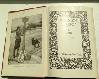 Robinson Crusoe by Daniel Defoe Antiquarian book
