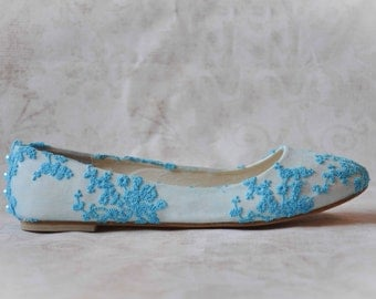Wedding shoes lace wedding shoes blue wedding flats blue shoes something blue wedding shoes lace flats bridal shoes blue lace wedding shoes