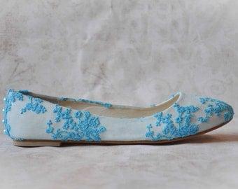 Wedding shoes lace wedding shoes blue wedding flats blue shoes something blue wedding shoes lace flats bridal shoes blue lace wedding shoes
