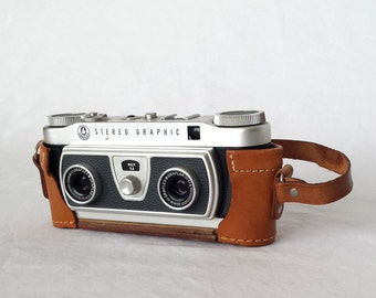 Vintage Camera, Stereo Camera, Stereo Photography, Leather Case, Camera Case, 3D Pictures, Stereo Graphic, Graflex Camera