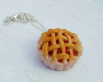 Cherry Pie Necklace- Polymer Clay Jewelry