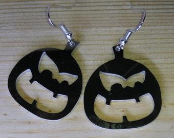 Earrings pumpkin halloween