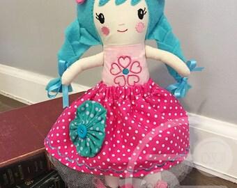 Handmade Cloth Doll, One of a Kind, Ready to Ship