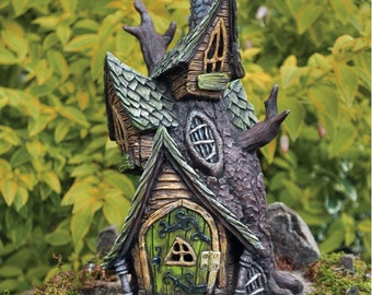 Fiddlehead Fairy Tree House with opening door