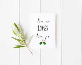Instant Download, Olive Me Loves Olive You Printable Art, Inspirational Quote, Typography Art, Digital Print, Black White Print, Wall Art