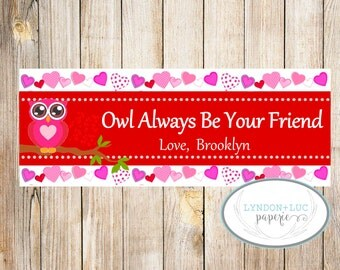 Owl Always Be Your Friend Valentine's Day Treat Bag Tag