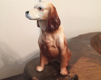 Vintage Porcelain Spaniel Dog Collectible Figurine