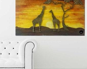 "Decorative panels ""Safari""| gift | unique gift | art | gift idea | Mother's day gift |"