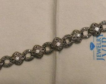 Beautiful - Moissanite Bracelet - Sterling Silver - 925 - Vintage