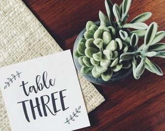 Table Numbers 1-20 . Printable Digital Calligraphy . Everly Collection