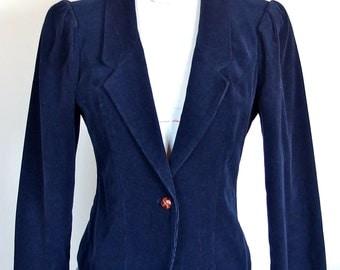 Vintage 1970s Blue Corduroy Jacket