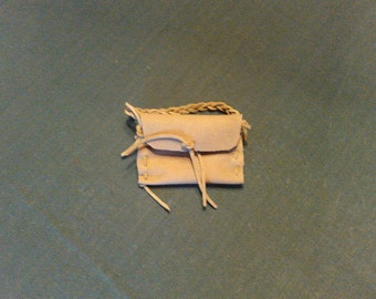Small Sage Leather Pouch