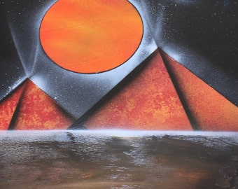 Space Painting with Pyramids