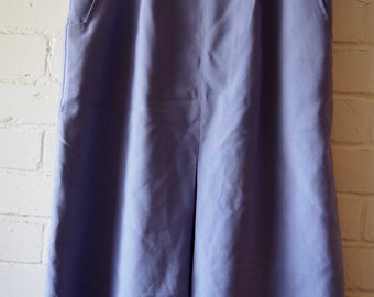 Purple 80s knee length skirt M-L