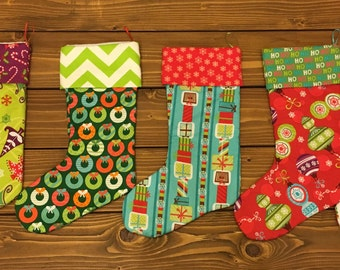 Christmas Stockings, Personalized Christmas Stockings, Whimsical Christmas Stocking, Custom Stocking, Stocking, Holiday Stocking, Christmas