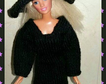 Barbie halloween witches hat and dress design (41)