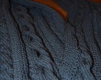 Blue Warm Elegant Scarf