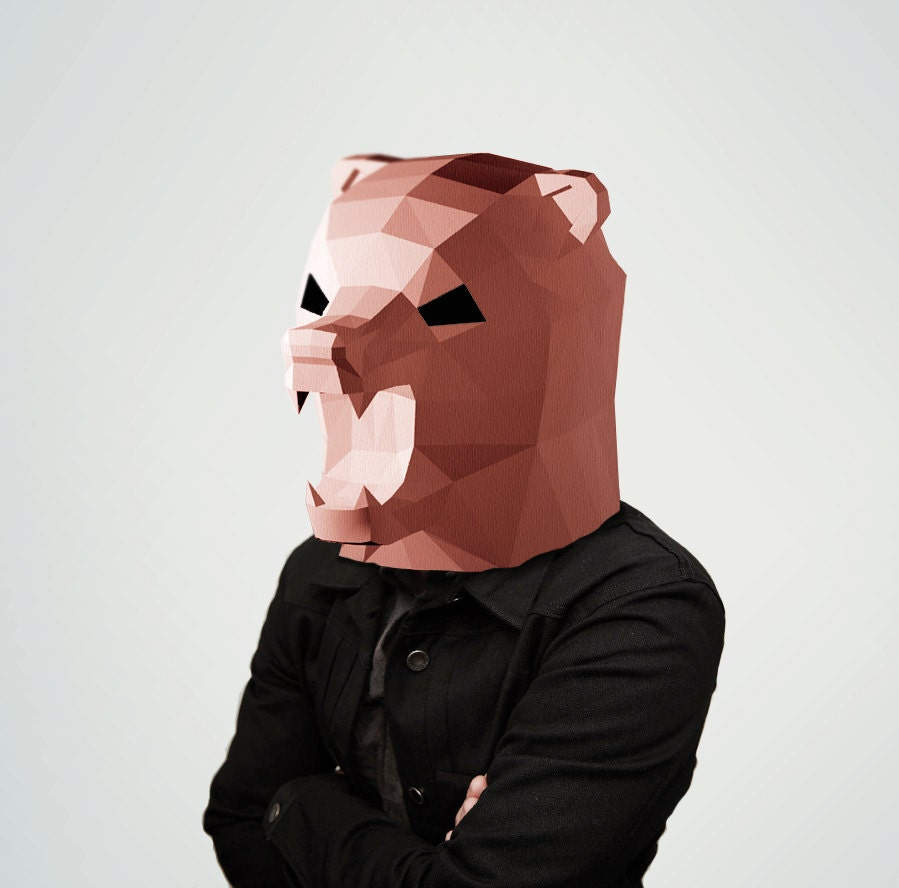 Uncategorized How To Make A Bear Mask bear mask papercraft paper make your own papercraft