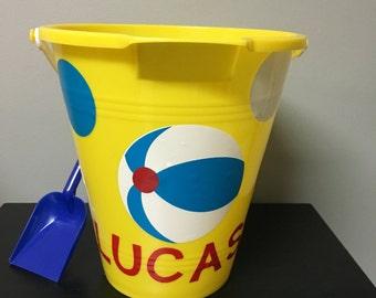 Polka Dot Monogrammed Bucket