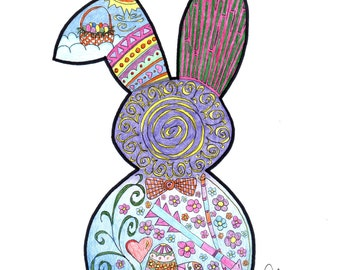 Bunny Coloring Page!