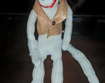 Handmade stuffed monkey