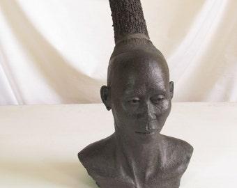 19th Centuary Zulu Woman Clay Sculpture