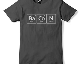 Bacon Element Symbol Tshirt Mens Womens Funny Science Food PT53