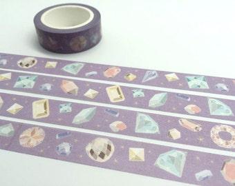 diamond tape 10M diamond washi tape colorful diamond colorful stone decor sticker tape purple tape planner accessories scrapbook gift