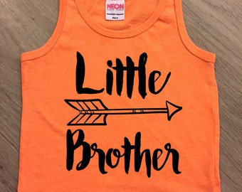 Little Brother arrow tank top - baby boy or girl tank - toddler tank - summer tank top