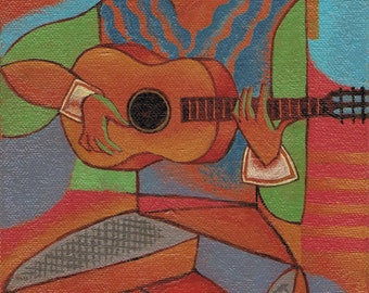 The Guitarist ~ Painting