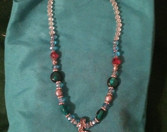 Glass Beaded Pendant Necklace