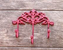 Decorative Wall Hook/ French Country Wall Hook / Jewelry Organizer/ Triple Hook/ Key Hanger/ Girls Room Hook/ Coat Hooks / Organize / Ornate