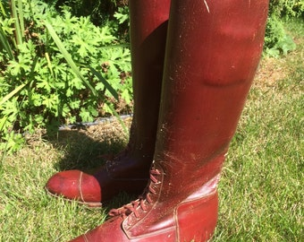Antique Vintage Leather Riding Boots