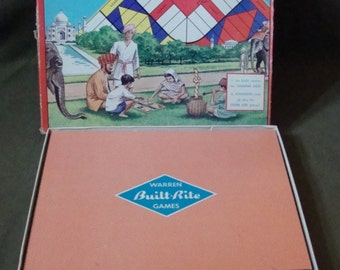 Vintage Pachessie, A Game of India Board Game 2 Ways To Play Built Rite 1960s