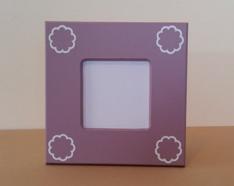 small picture frame, picture frame, purple picture frame, custom picture frame, 4 x 6 picture frame, 8 x 8 picture frame wood picture frame