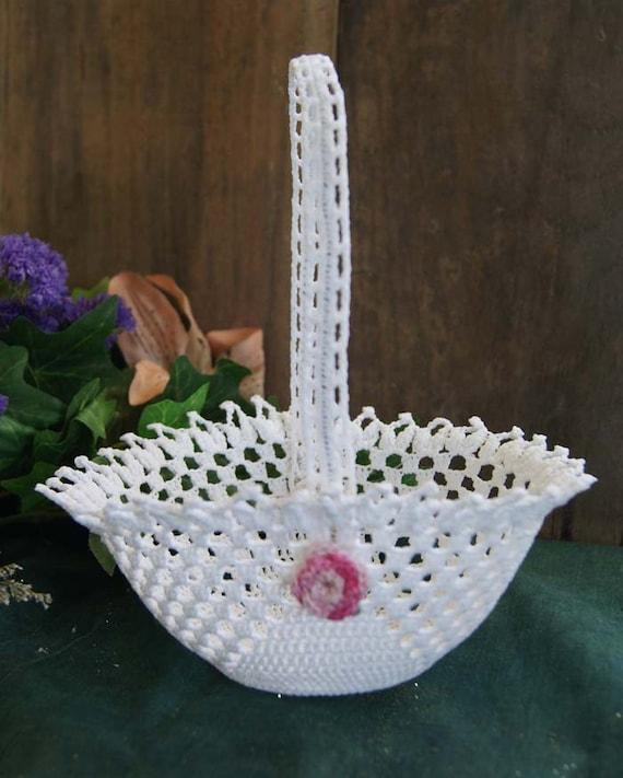 Handmade Crochet Lace Basket
