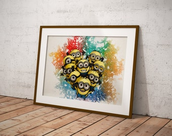 The Minions Poster, Carton Poster