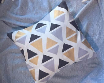 Gold Triangle Cushion Cover