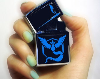 pokemon go Team Lighter- Lighters cigarette pokemon - Lighter Engraved Lighter  pokemon