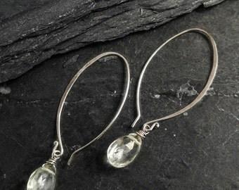 Mossy Green Amethyst Earrings