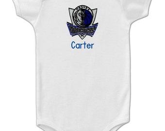 Personalized Dallas Mavericks Baby Bodysuit