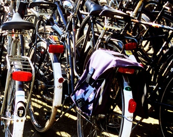 Fine Art Photography, Bicycles at Central Station, Amsterdam, Netherland, Europe, Vertical photography,Giclée Art print, Wall decor