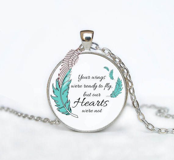 Your Wings Were Ready To Fly Pendant By SouthernTouchJewelry